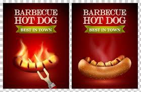 Barbecue Flyers Hot Dog Hamburger Sausage Fast Food Barbecue Hot Dog Flyers