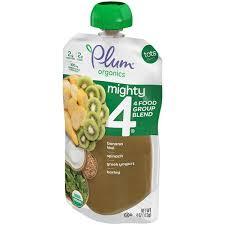 Plum Organics <b>Tots Mighty 4</b> Banana Kiwi Spinach Kiwi Greek ...