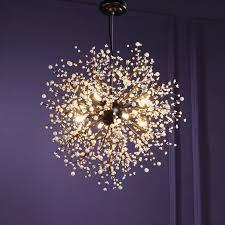 Großhandel Kreative Löwenzahn Kronleuchter Feuerwerk Led Licht Zweig Pendelleuchten Industrielle Retro Leuchten Leuchte Für Esszimmer Foyer Wohnzimmer