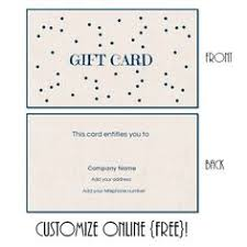 free printable gift card templates that can be customized instant you can
