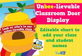 classroom door. Unbee-lievable Classroom Door Display Editable Labels