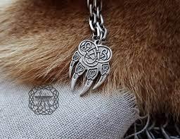 wolf paw pendant impress of veles