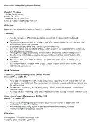 Resume Job Description Unique Property Manager Resume Objective Job Description Template Assistant