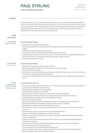 Food And Beverage Manager Resume Samples And Templates