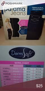 Pajama Jeans Size Chart Nib Pajama Jeans As Seen On Tv Style With Comfort Pajama