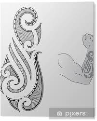 Obraz Na Plexiskle Maori Tetování Design Se Hodí Do Předloktí