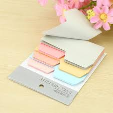 6 Colors Cute Notebook Note Index Paper Card Sticker Note Post It