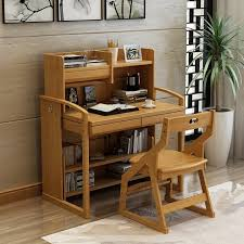 real child can lift student desk study table solid wood chairs bookcase children writing suit