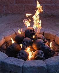 a fantastically gruesome replacement for the logs in your gas fireplace or fire pit each