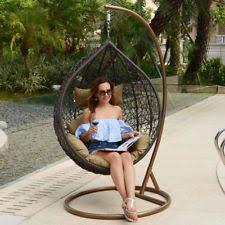 hanging egg swing hammock rattan wicker lounge chair outdoor garden furniture hanging egg chair outdoor i70
