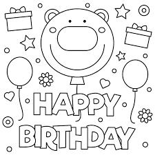 Happy Birthday Coloring Happy Birthday Coloring Sheet Manuals Guide