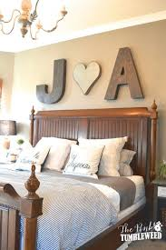 sweetheart initials wooden wall letters