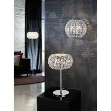 508424 diamond 3 light crystal table lamp chrome crystal
