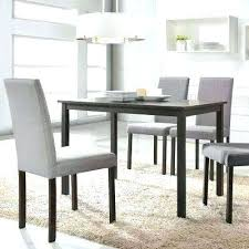 gray dining set room chairs 5 piece fabric upholstered table ideas wash extension
