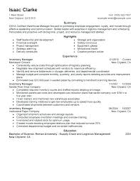 Inventory Controller Resumes Space Saving Resume Template