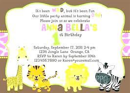 Jungle Invitation Template Jungle Birthday Party Invitations Free