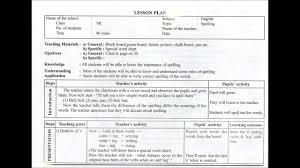 Elementry Lesson Plans Micro Teaching Skill Lesson Plan Youtube