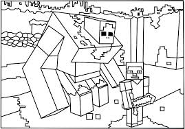 Minecraft Coloring Pages Herobrine Free Coloring Pages Minecraft