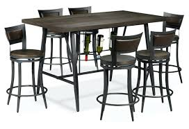 striking the pub height collection dark grey and brown richmond dining room chairs