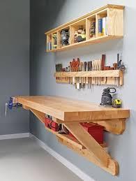 diy wall hung workbench plans