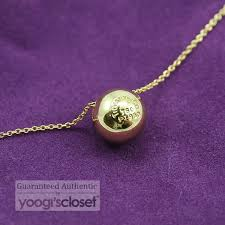 18k gold etoile ball diamond pendant necklace tiffany co 18k gold etoile ball diamond pendant necklace