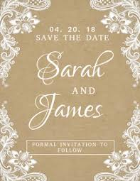 Save The Date Card For Your Wedding Postermywall