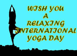 wish you a relaxing international yoga day