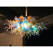 decor colored glass light shell chandelier hanging lamp contemporary blown