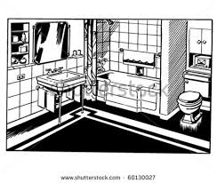 bathroom clipart black and white. Interesting Bathroom For Bathroom Clipart Black And White C