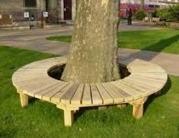 Tree wrap around bench