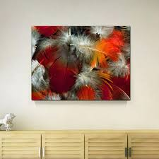 2018 red colorful abstract feather canvas painting home decor canvas wall art picture digital art print for living room wholesale from utoart  on colorful abstract canvas wall art with 2018 red colorful abstract feather canvas painting home decor canvas