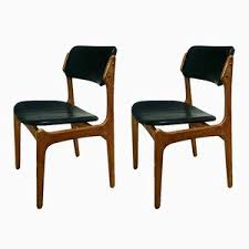 danish model 49 leather chairs by erik buch for o d møbler 1960s set of