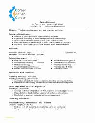 Pharmacy Technician Resume Template With 45 New Surgical Tech Resume