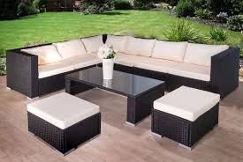 free uk delivery luxury rattan garden corner sofa with stools and table