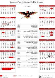 School Calendar Template 2015 2020 Johnson County Central 2015 16 Calendar