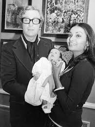 young michael caine wife. Interesting Michael Michael Cane With Wife Shakira And Baby Daughter In Young Caine Wife C