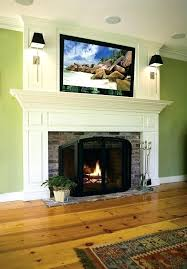 fireplace mantel ideas with tv on fireplace mantel a traditional custom fireplace mantel with flat screen
