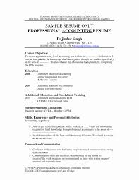 Entry Level Accounting Resume Lovely Experienced Accountant Resume