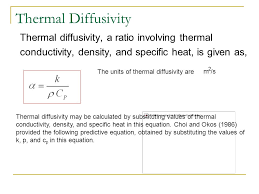 3 thermal diffusivity
