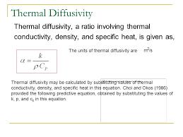 thermal properties part iii asst prof dr muanmai apintanapong thermal diffusivity equation jennarocca thermal diffusivity equation jennarocca