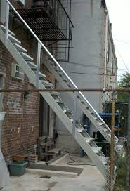build all steel outdoor stairs with fast stairs com stringers kit