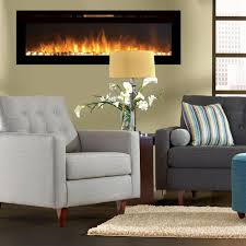 regal flame astoria 60 inch built in ventless heater recessed wall mounted electric fireplace pebble