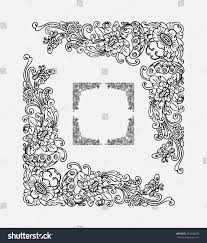 Smooth, detail, and editable corner floral ornament decoration 2. Balinese  traditional flourish pattern