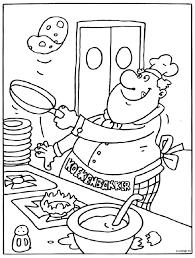 Pannenkoeken Bakker Kleurplaat Pannenkoek Bakker Winkelen