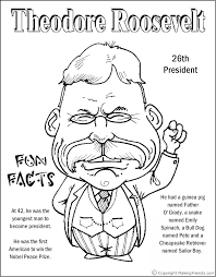 Small Picture Theodore Roosevelt Coloring Page Coloring Pages Pinterest