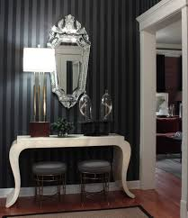 hollywood regency style furniture. stripes in black and grey are a cool modern take on the hollywood regency style furniture