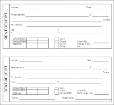 Fillable Rent Receipt Template Syncla Co