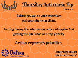 Interview Tip Interview Tips Online Productivity Solutions Pvt Ltd