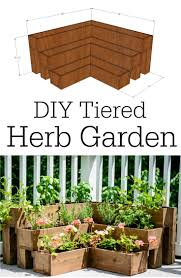Small Picture DIY Tiered Herb Garden Tutorial Great for decks and small outdoor