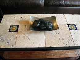 rustic tile coffee table